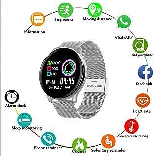CWBB Relojes Inteligentes, Hombres Mujeres IP67 Impermeable Pantalla de 1,22 Pulgadas Monitor de Ritmo cardíaco Smartwatch para Android iOS