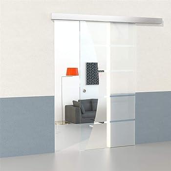 Set de puerta corredera de cristal con 5 tiras de cierre suave + campo transparente 2050