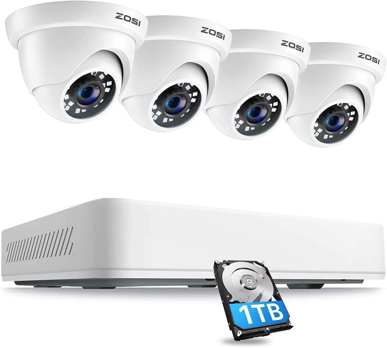 ZOSI 8CH 5MP Seattle Mall Philadelphia Mall Home Security Cameras H.265+ C Channel 8 System