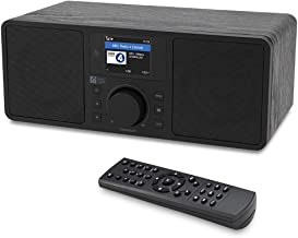 Ocean Digital WiFi/FM Internet Radio WR230S Alarm Clock Radio with Bluetooth Receiver & Ethernet Port, Stereo Speakers, Line Out, Aux in, 20,000+ Stations, 2.4