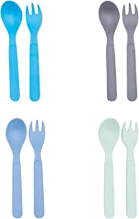8pcs Bamboo Kids Spoons & Forks for Baby Feeding, Non Toxic & Safe Toddler Spoons & Forks Set, Eco-Friendly Tableware for Baby Toddler Kids Bamboo Toddler Dishes & Dinnerware Sets 01