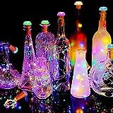 idalinya Hermosa luz LED de Corcho para Botella, luz de Corcho para Botella, práctica Carga de batería Solar práctica para Bar, Pasillo, cafetería