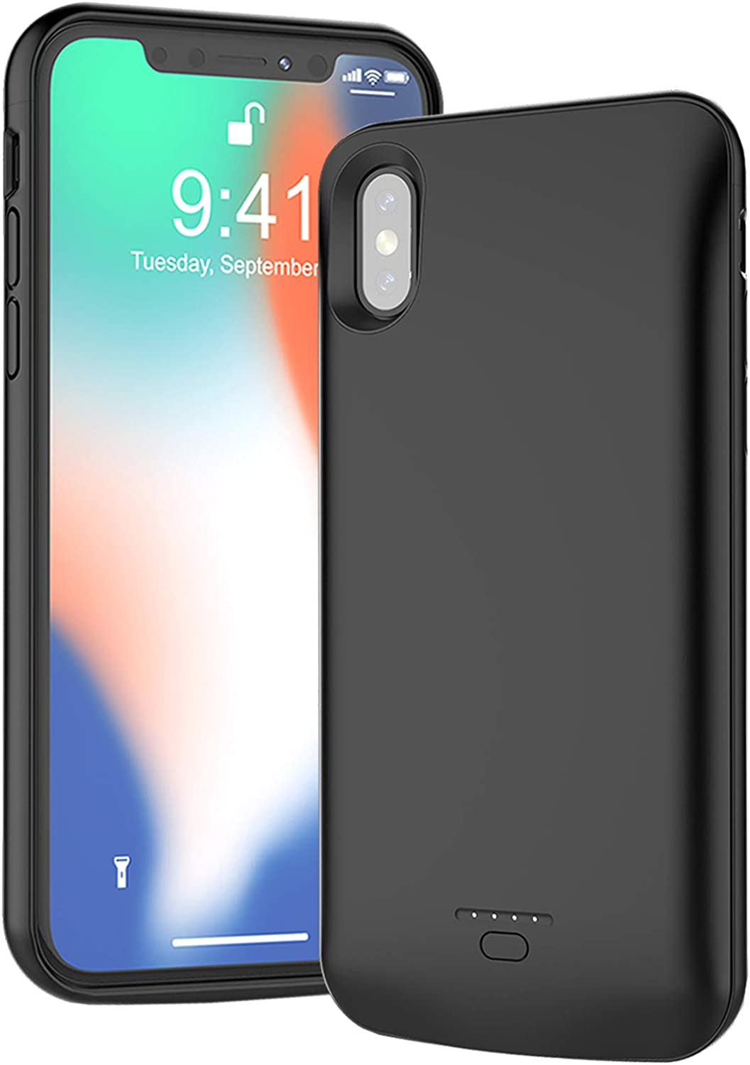 Battery Case for iPhone X XS 4000mAh 5 popular Headphones Fit 10 Colorado Springs Mall Lightning