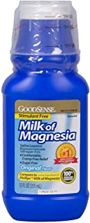 GoodSense Milk of Magnesia Original, Saline Liquid Laxative for Constipation Relief, 12 oz