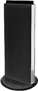Azar 700508-BLK 8-Inch W by 20-Inch H Revolving Black Pegboard Counter Unit, Black