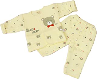 GRAPPLE DEALS Newborn Baby's Winter Wear Warm Cotton Gift Set 0 to 6 Month. (Any Print - 1 Set)
