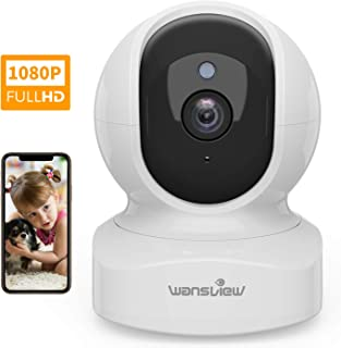 Home Security Camera, Baby Camera,1080P HD Wansview Wireless WiFi Camera for Pet/Nanny, Free Motion Alerts, 2 Way Audio, Night Vision, Compatible with Alexa Echo Show, with TF Card Slot and Cloud