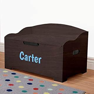 Personalized Dibsies Modern Expressions Toy Box - Espresso (Signature Series - Boys)