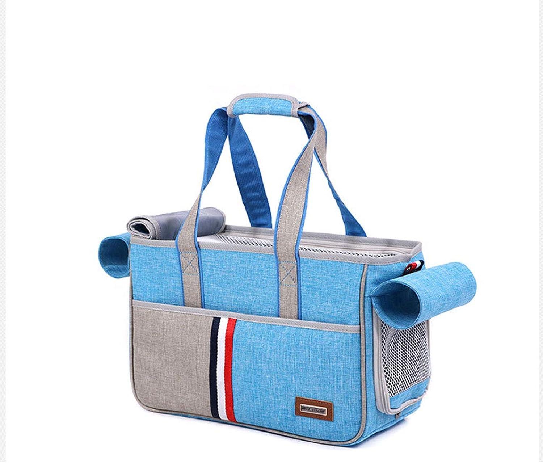 Maimai Pet Bag Out Of The Cat Cage Portable Dog Bag Breathable Cat Backpack Shoulder Portable Pet Bag (color   Sky bluee, Size   L)