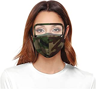 WOSLAFENS 【US Stock】 Face Bandanas, Reusable and Washable Face Bandanas, Anti-Fog Protect Face Bandanas with Detachable Eyes Shield, for Audlts - 3pc AA#17