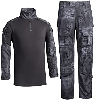 Men's Military Tactical Shirt and Pants Multicam Army Camo Hunting Airsoft Paintball BDU Combat Uniform Dry Quick