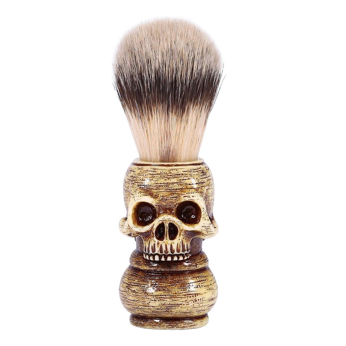 意味コイン多用途シェービングブラシ メンズ グルーミングツール メイクアップ サロン ビアードシェービングブラシ ひげ 洗顔 髭剃り 男性 ギフト理容
