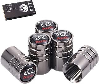 TK-KLZ 5Pcs Chrome Car Tire Valve Stem Caps for Audi S Line S3 S4 S5 S6 S7 S8 A1 A3 RS3 A4 A5 A6 A7 RS7 A8 Q3 Q5 Q7 R8 TT Car Styling Decoration Accessories