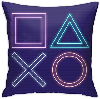 Emonye Playstation Ps4 Controller - Colour Explosion Cushion Throw Pillow Cover Decorative Pillow Case For Sofa Bedroom 18 X 18 Inch