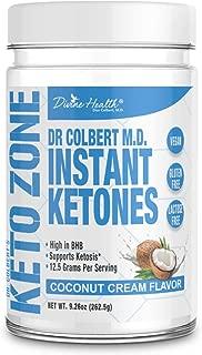 Keto Zone Instant Ketones Powder (Coconut Flavor) - Exogenous Ketones - Ketone Salts - 12 Grams BHB per scoop (Beta-Hydroxybuturate) (21 Servings) - Recommended in Dr. Colbert's Keto Zone Diet