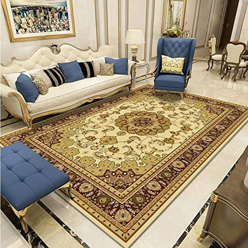 Oukeep Nordic Style Rectangular Carpet, Household Sofa, Living Room, Coffee Table, Carpet, Bedroom Floor Mats Can Be Washed