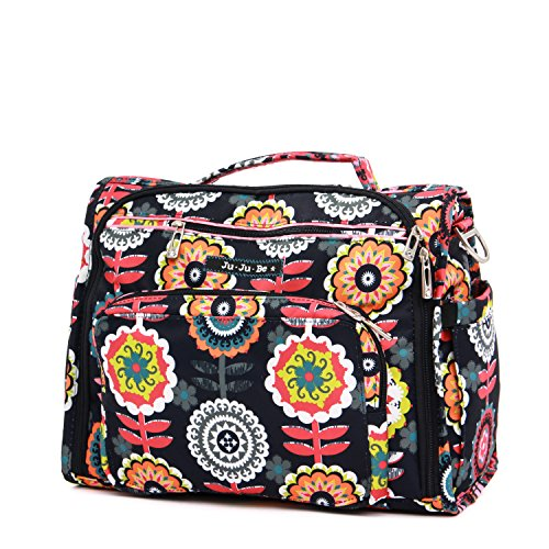 Ju-Ju-Be Classic Collection B.F.F. Convertible Diaper Bag, Dancing Dahlias