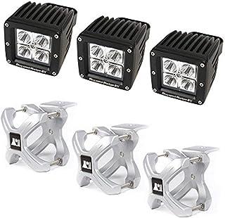 Rugged Ridge 15210.12 Light Kit, X-Clamp/Square LED, Large, Silver, 6 Pieces