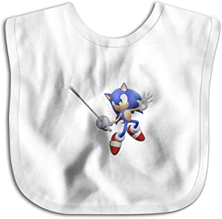 Mario and Sonic at The London 2012 Olympic Games Baby Bandana Drool Bibs Muslin Bibs for Teething and Drooling, Super Soft Organic Cotton, Great Gift for 0-24 Months Baby White