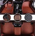 Muchkey AutoFußmattenSetfür Chevrolet Chevy Camaro 2010-2015 FussmattenAll-SchutzLederwasserdichteAutoZubehör Braun
