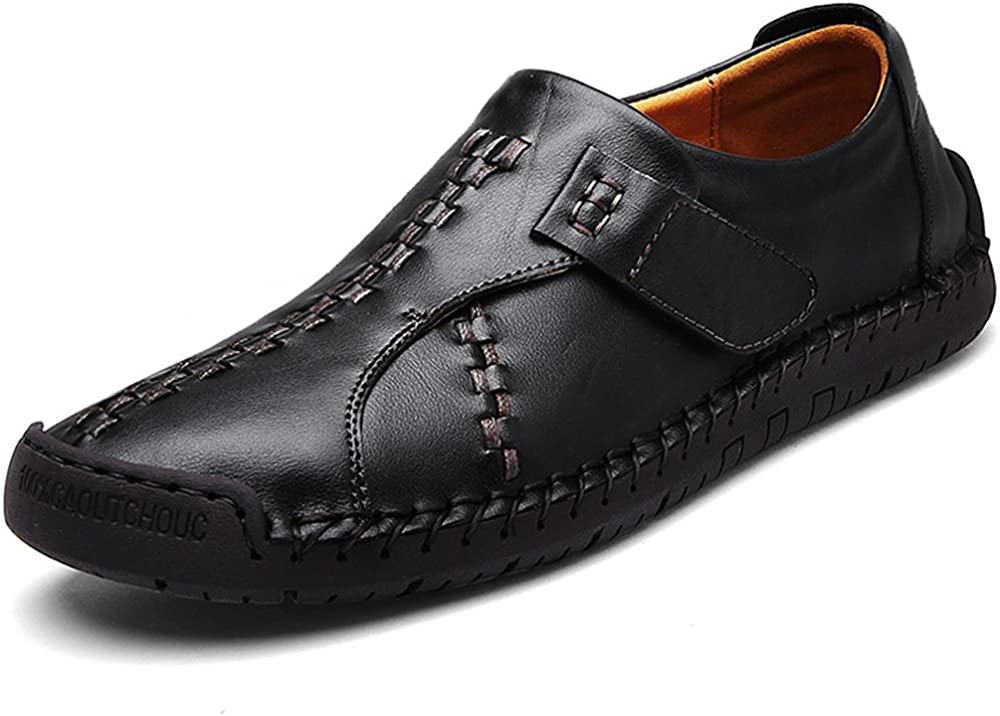UPIShi Leather Mens Casual Slip-On Driving Loafers Oxford Walking Boat Sneaker Shoes