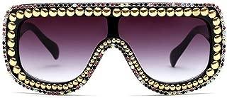 /Large Oversized Square Geometric Shine Style Diamond Women Sunglasses