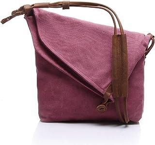 LIUFULING Women and Men's Travel Rucksack Vintage Briefcase Satchel Shoulder Bag (Color : Red, Size : OneSize)