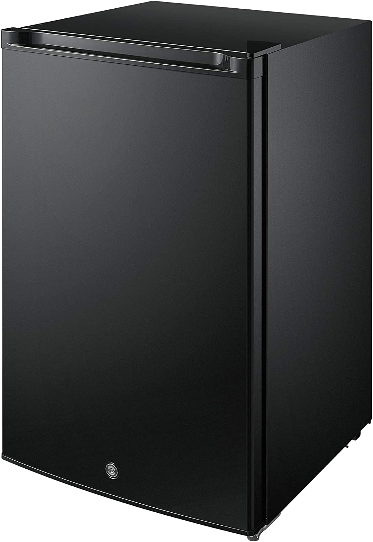 Midea MRU03M2ABB Upright Freezer Large, 3.0 Cubic Feet, Black/with Lock