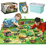 Dinosaur Toys with Dinosaur Figures, Activity Play Mat & Trees for Creating a Dino World Including...