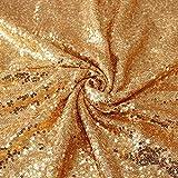 nobranded Gold Sparkly Fabric Glitter Tischüberzüge