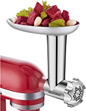 HOZODO Metal Food Meat Grinder Attachment Compatible with Kitchen Aid Stand Mixers-Sturdy Mixer Accessories as Food Processor