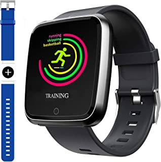 2019 Version Smart Watch, Sport Waterproof Smartwatch, Fitness Tracker with Heart Rate,Blood Oxygen, Sleep Monitor,Message Call Reminder Smart Watch for Men Women Kids, Compatible for iphone/Android