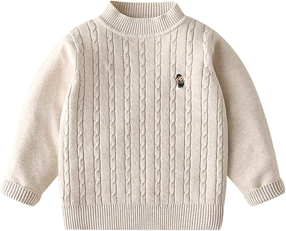 Mud Kingdom Little Boy Cable Knit Sweater Pullover Cute Elephant