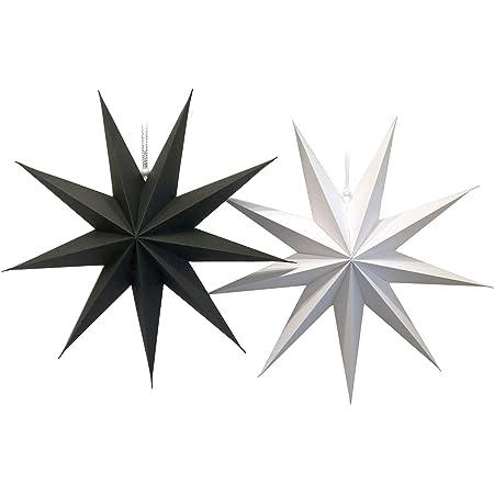 Dekohänger Star Silver 9 prongs Paper Lantern 60 cm