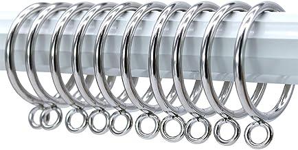 40 Pack zilveren metalen gordijnringen opknoping ringen 45 mm interne diameter