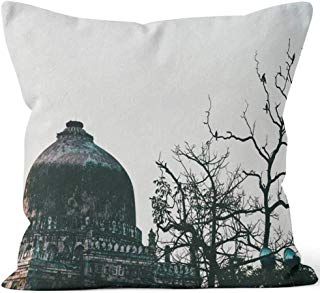 """Lodi Gardens or Lodhi Gardens is a City Park situated in New Delhi Throw Pillow Cushion Cover,HD Printing Decorative Square Accent Pillow Case,16"""" W by 16"""" L"""