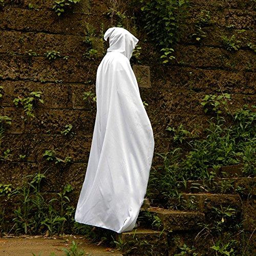 Halloween Costumes Adulte Enfants Manteau Magique Robe de sorcière Mort Vampire Manteau de Manteau Noir (Couleur : Blanc, Taille : M)
