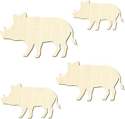 3-50cm Breite Basteln Deko Holz Wildschwein