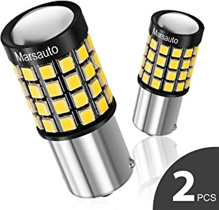 1156/7506/1141 LED Reverse Backup bulb,[2018 UPGRADED] Marsauto 52 SMD 3030/2835 Chipsets Back up Stop Tail Light Lamp Bulbs Replacement (Set of 2)