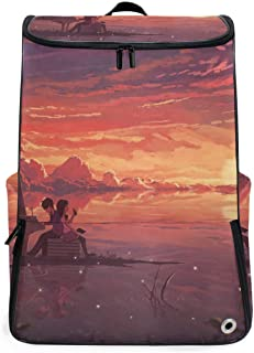 Travel Backpack Valentine's Love Solo School Backpack for Men Big Hunting Bag