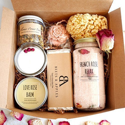 SHIP NEXT DAY Rose Blossom Spa Gift Set - Gifts for her relaxation spa kit & Amazon.com: SHIP NEXT DAY Rose Blossom Spa Gift Set - Gifts for her ...
