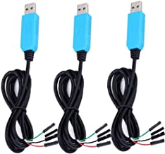LGDehome PL2303TA USB to TTL Serial Cable Windows 8 Supported Debug Cable for Raspberry Pi USB Programming (Pack of 3)