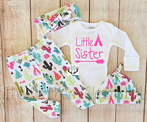 Baby Girl Coming Home Outfit, Girls Clothing, Clothes,Newborn, 0-3, 3-6, 6, 9, 12, 18 and 24 Months