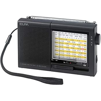 ELPA(エルパ) AM/FM短波ラジオ 海外の国際放送から国内のAM/FM放送まで幅広くキャッチ ER-C74T