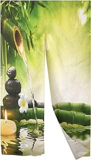 MYRU Zen Style Landscape Japanese Noren Curtain Bamboo Doorway Curtain Tapestry (33 by 59 Inch,Bamboo)