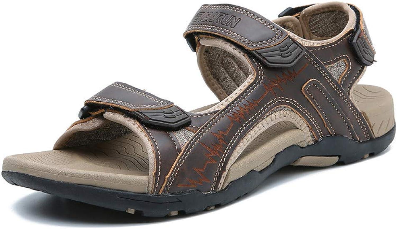 Tanxianlu Men Sandals Outdoor Summer Handmade Men shoes Men Breathable Beach Sandals Walking Sandal