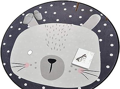 Indoor Home Non-Slip Warmth Soft Animal Pattern Carpet Side Table mat Carpet 180 * 180CM B