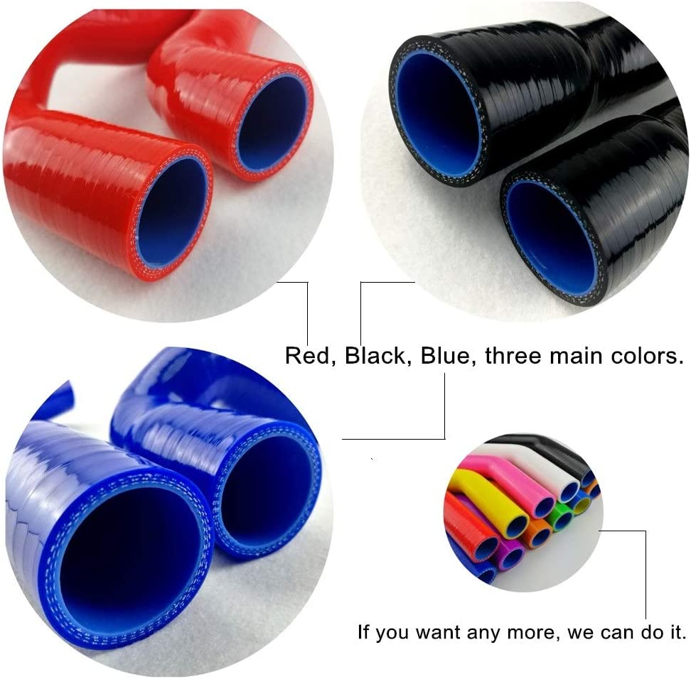 silicone imperial coupling hose 3 ply reinforced pipe radiator water coolant