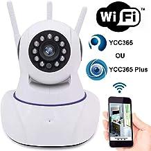 Câmera inteligente Wireless IP infra HD 1.0 megapixel 3 antenas onvif Auto Tracking