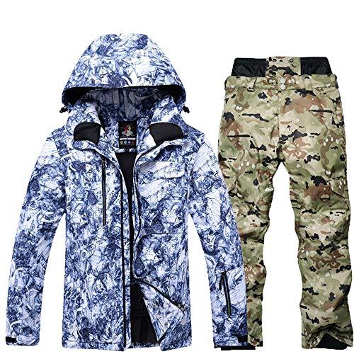 DRT Herren Ski-Jacken und Hosen Singles Teller Doppelbrettwasserdicht Skianzug Winter-Anzug (Color : 4, Size : JM+PS)